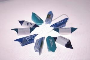 Krówki z logo producentów batonów